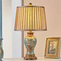 TUDA 33x57cm Free Shipping Golden Fabric Lampshade Table Lamp Modern European Style Table Lamp For Living Room Bedroom Study E27