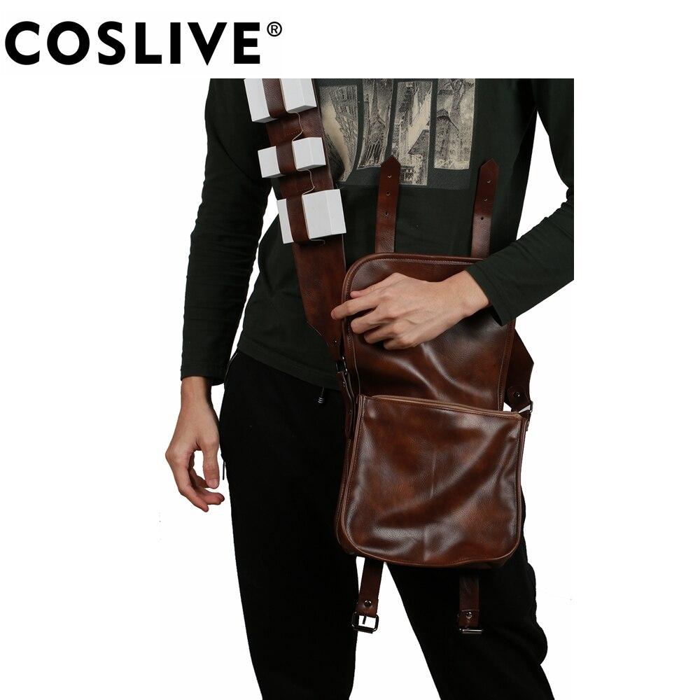 Coslive Звездные войны: Серия 3 Revenge of the Sith Chewbacca рюкзаки для косплея реквизит модные полиуретановые сумки аксессуары для косплея