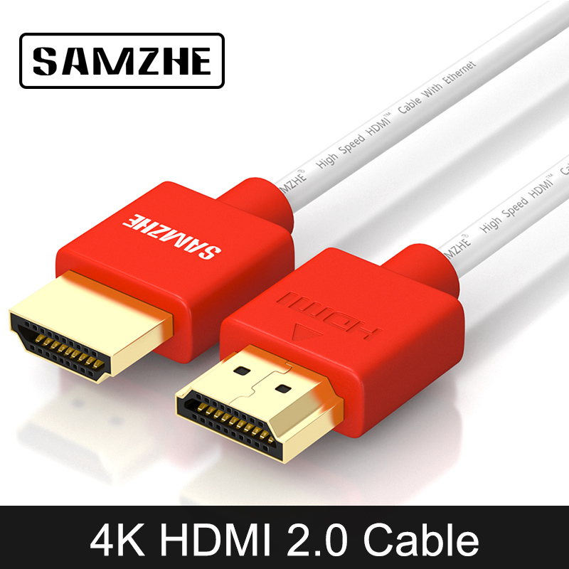 SAMZHE 1080P 2.0 Type HDMI Cable Up to 4K HDMI2.0 Cable 1.5M/2M/3M/5M Male to Male 3D Support display for DVD TV BOX PS3/4 1080p hdmi 1 4 male to male flat cable orange 5m
