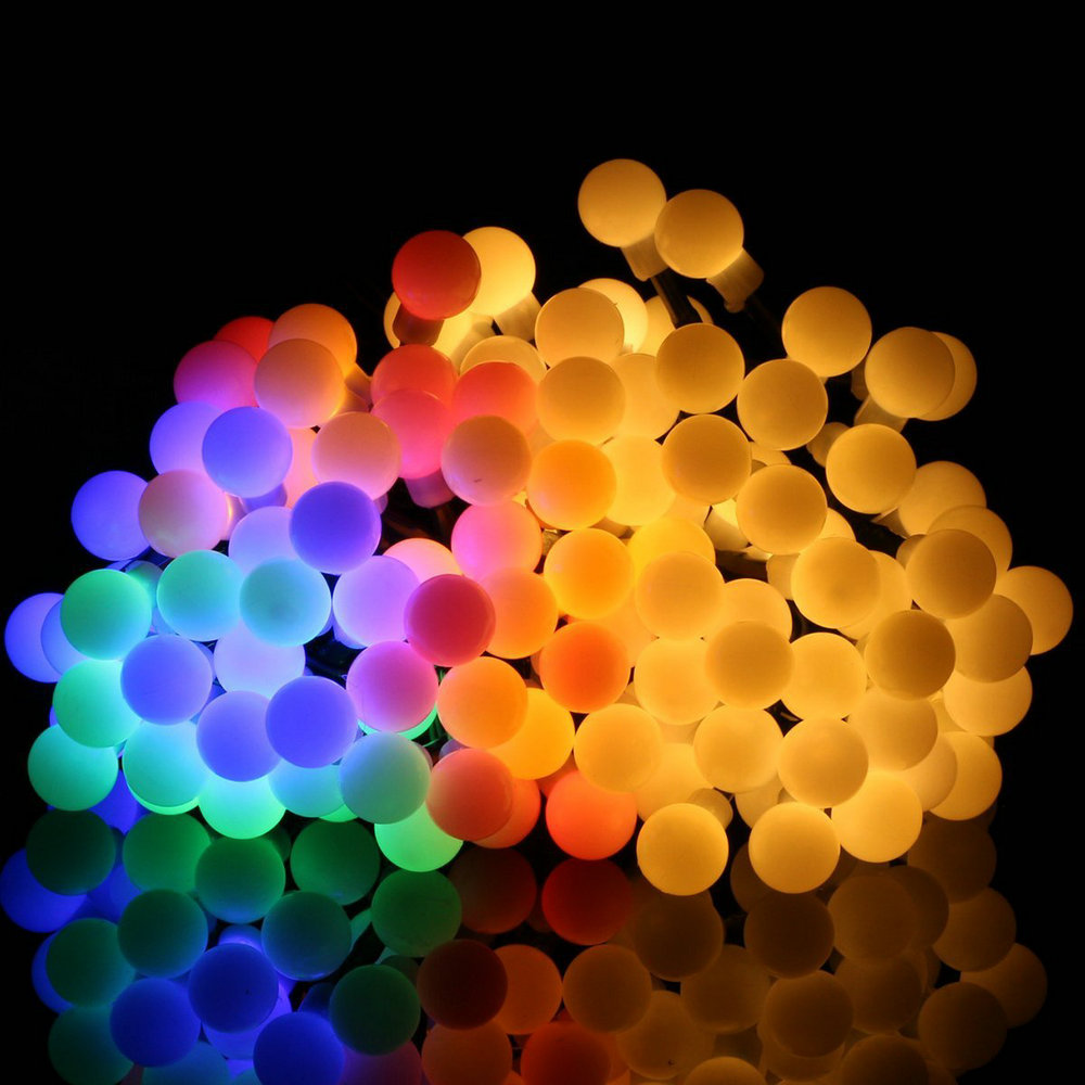 1M-10M Ball Led String Fairy Lights With Battery Box Warm White/White/RGB For Christmas Holiday Wedding Home Decoration