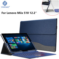 Tablet Laptop Cover For 12.2 Lenovo Miix 510 Miix5 Sleeve Case PU Leather Stand Shell Back Suction Protective Skin For Miix510