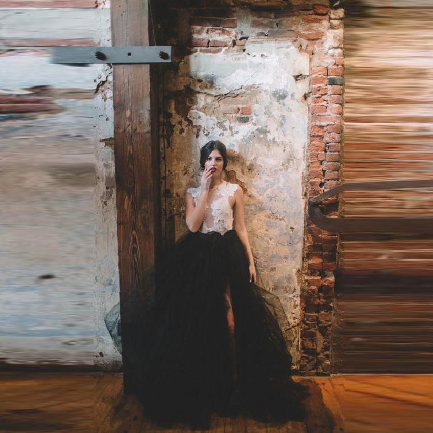 Fiesta Maxi Puffy Mujeres Piso Slit Larga Longitud Tulle Faldas Personalizado Tutú Formal A Negro Falda Línea Vintage qxwHtOwZ1