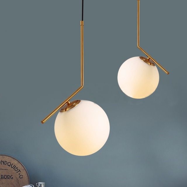 Modern pendant ceiling lamp led lamparas suspension - Lampara bola ikea ...