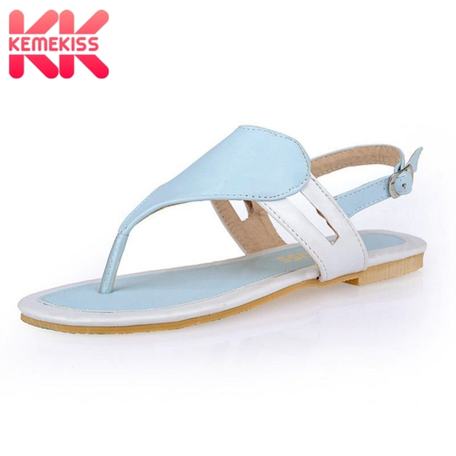 523894d68156 KemeKiss Size 32-44 Shoes Woman Famous Flip Flops Ladies Clip Toe Gladiator  Sandals Women