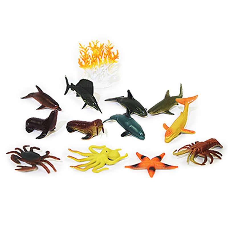 Animais selvagens fazenda zoológico modelos figuras figuras brinquedos simulação peixinho caranguejo mar tartaruga tubarão baleia marinha organismo brinquedos para o miúdo