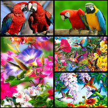 DIY full Diamond Embroidery Animal birds Cross Stitch Mosaic diamond painting Scenery Pattern  decor gift