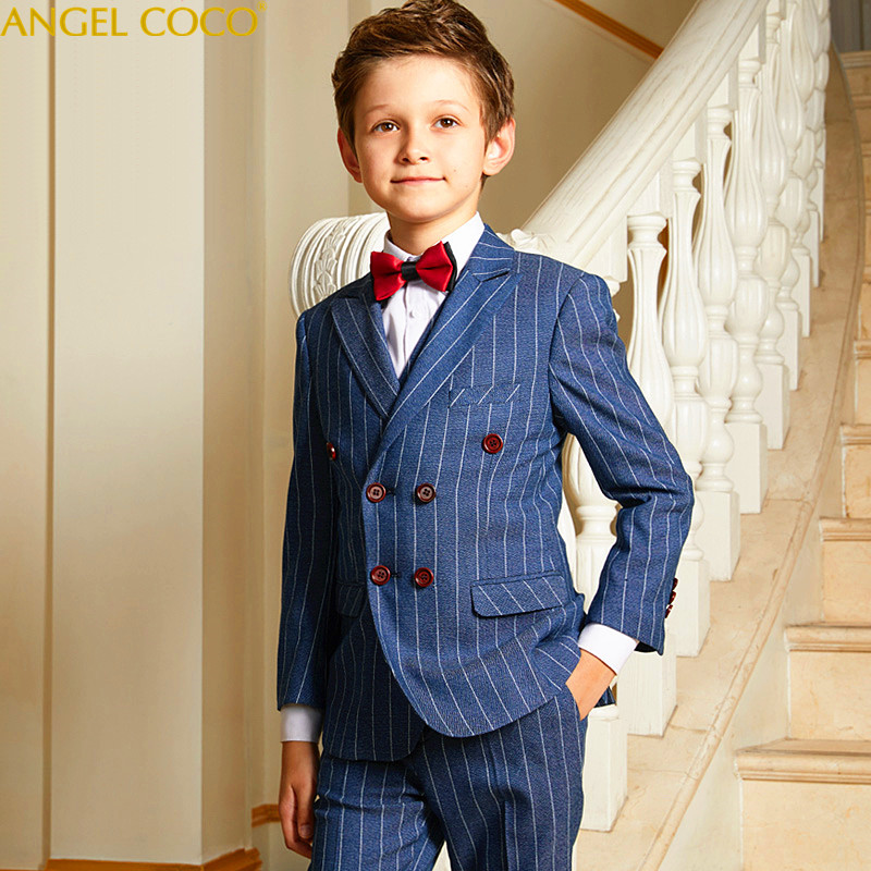 Fashion British Lattice Baby Boys Suit Kids Blazers Boy Suit For Weddings Prom Formal Spring Autumn Wedding Dress Boy Suits 2018 hot sale top quality baby boys spring autumn casual blazers jacket wedding suits for boy formal children clothing kids prom suit