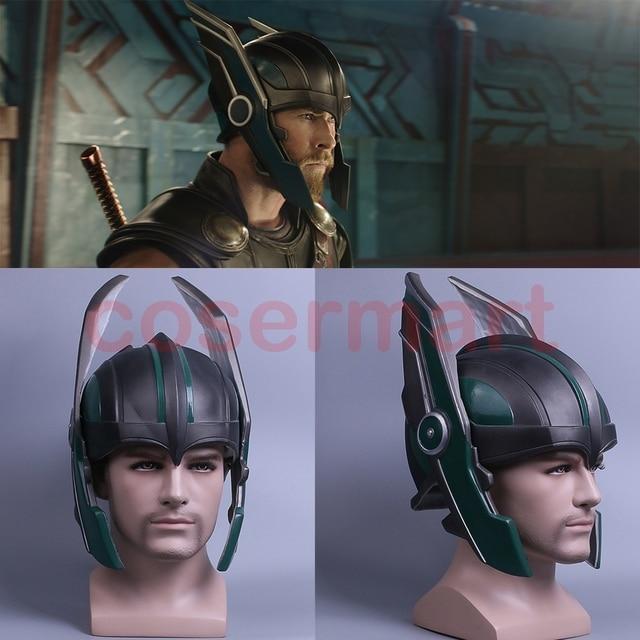 2017 Thor 3 Ragnarok Helmet Cosplay Thor Helmet PVC Mask Handmade Halloween Mask Caps New