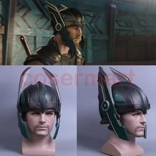 2017 Thor 3 casco de Ragnarok Cosplay casco de Thor máscara de PVC hecho a mano Halloween máscara gorras nuevo