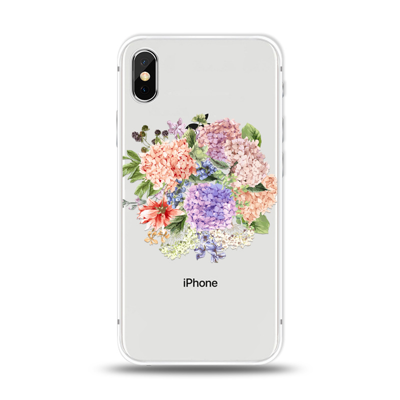 KIPX1027J_1_JONSNOW For iPhone 7 Flowers Pattern Soft Case For iPhone 6 6S 7 8 Plus Clear Back Cover for iPhone 5 5S SE Capa Coque Fundas
