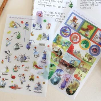 5Pcs/Pack Lovely Kawaii Scrapbooking Stickers The Wizard Of Oz Decoration Ablum Photo Stickers Sticky Note / Stationery / Indigo