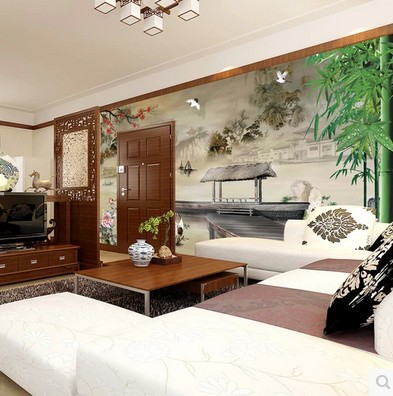 art wall stickers home decor High-end waterproof bamboo embossing wallpaper abstract 3d Chinese large mural landscape painting 2503art large murals3d can be custom made furniture decorative wallpaper house ornamentation decor wall stickers chinese style