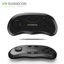 Shinecon universal vr música selfie 3d juegos joystick gamepad controlador remoto inalámbrico bluetooth para ios android pc tv