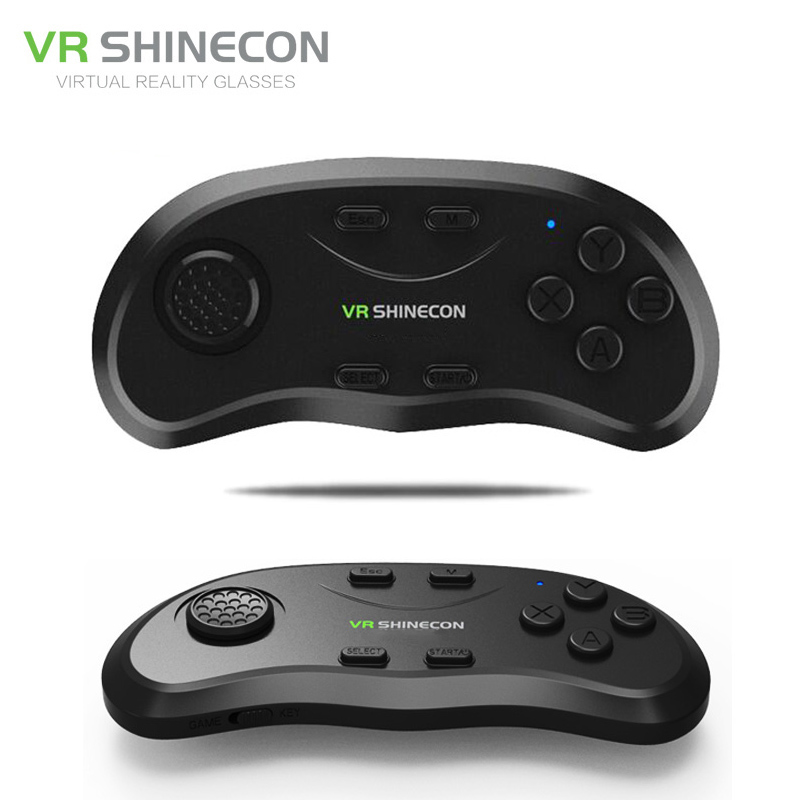 Shinecon universal vr controlador sem fio bluetooth remoto joystick gamepad música selfie 3d jogos para iphone android pc