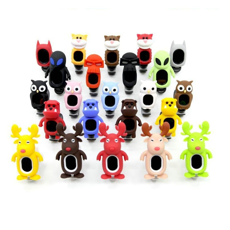 Freight free soft silicone shell tuner interesting modelling various color Ukelele violin tuners anti-shock anti-collision various sibelius goldmark violin concertos