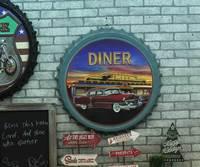 Large 3D effect tin sign DIENR Vintage Metal Painting Beer cap Bar Wallpaper Decor Retro Mural Poster Craft 50x50 CM