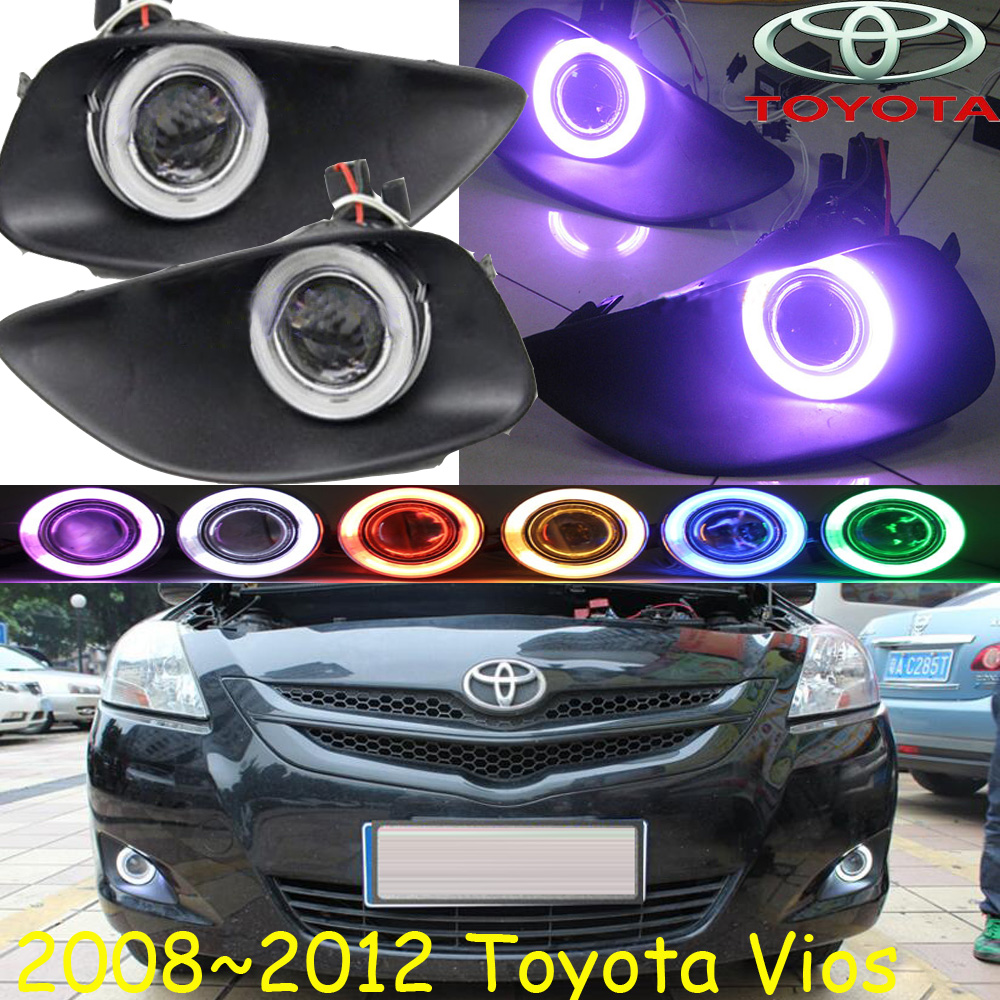 Car-styling,Vios fog lamp,2008~2012,chrome,LED,Free ship!2pcs,Vios head light,car-covers,Halogen/HID+Ballast;Vios vios headlight 2008 2012 2014 2016 free ship vios fog light vios driver light 4runner avalon camry hiace tundra sienna yaris l