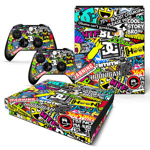 For XBOX ONE X console sticker and 2 controllers sticker for XBOX ONE X vinyl sticker for xbox one X skin sticker---0692(China)