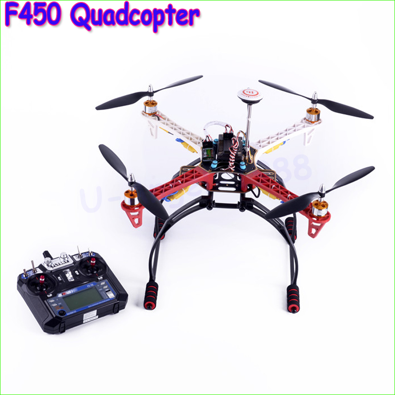 цена на DIY RC F450 Quadcopter MultiCopter Axis Aerial Drones Frame+APM2.8 flight control + M8N GPS + motor / ESC ( Ready to fly )