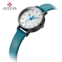 Retro Lady Women's Watch Fine Fashion Hours Dress Bracelet Simple Leather Clock Girl Birthday Christmas Gift Julius Box