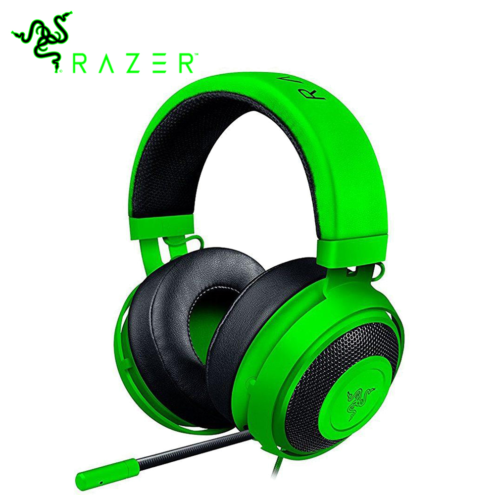 Original Razer Kraken Pro V2 Gaming Headphone for PC Xbox One for Sony PlayStation 4 Gaming Headphone with Mic 50 mm Microphone somic g951pink headphone 7 1 virtual gaming headphone female players wired usb headphone with microphone headsets 3d surround