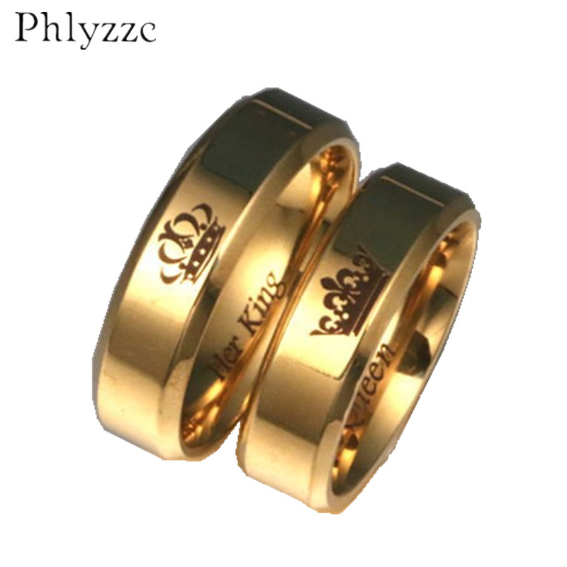 e7c6049093354 6mm wide Simple Gold Ring for Men His Queen Her King Fashion Womens ...
