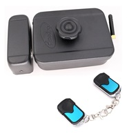 433MHz Wireless Remote Control Electronic Rim Lock Non Key Electronic Motor Lock With Remote Handle Use