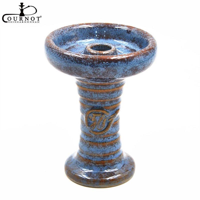 1 PZ Ceramica Testa di Un Foro Phunnel Ciotola del Narghilé Shisha Ciotola ciotola Panoramica + 1X Narghilè Carbone Termico Titolare portiere sistema