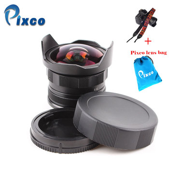 APS-C CL-Mil7528N 7.5mm F2.8 Fish-eye Wide Angle Lens suit for Fujifilm FX NEX Micro 4/3 EOS M +Gift- Lens Bag+Camera Straps