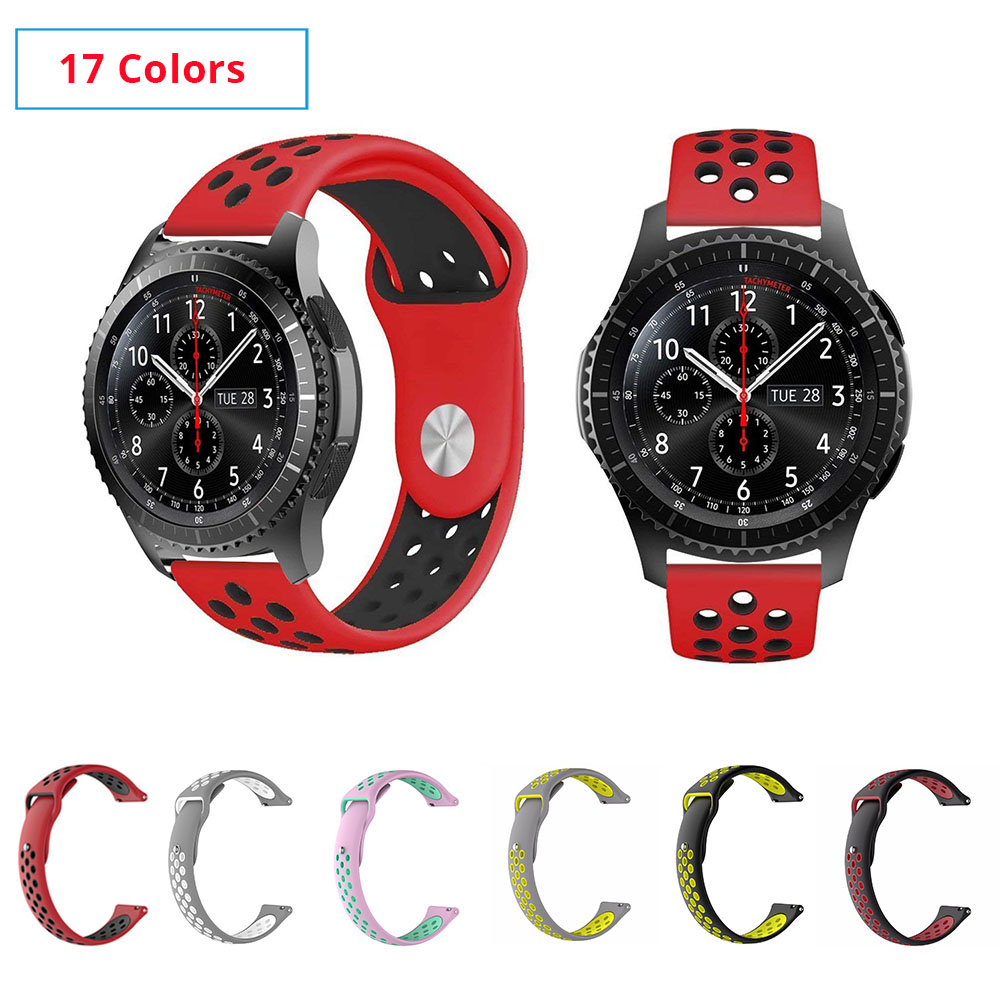 22mm Silicone Band For Samsung Gear S3 Frontier 20mm Silicone Watch Strap Bracelet For Samsung Gear S2 Galaxy Watch 46mm 42mm