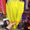 20 PCS Beautiful Beautiful Silver Feather 40 50 Cm 20 Inches 16 Feathers Dyed Yellow DIY