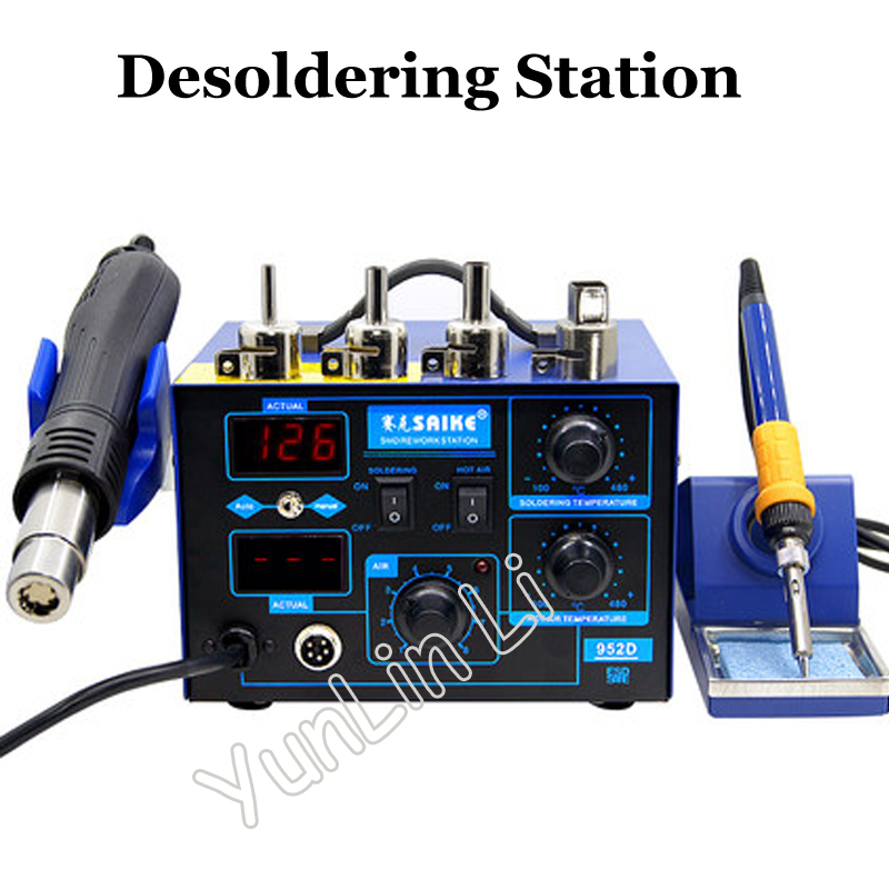 220V/110V Hot Air Gun Desoldering Station Rework Station Hot Air Gun Soldering Station saike 952D saike 850 hot air gun soldering station hot air desoldering station 220v