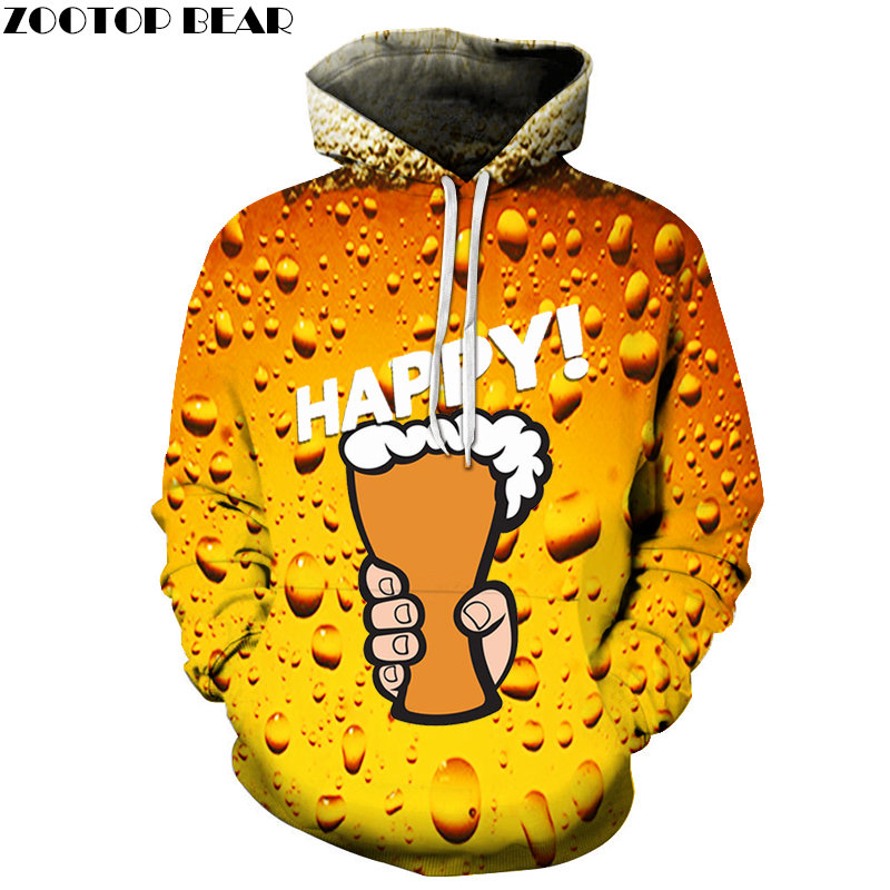 Transfer Beer Men Sweatshirts Hoodies Fashion Sleeve Drop Shop Pullover 2019 Game Casual Streetwears Brand 3D print ZOOTOPBEAR