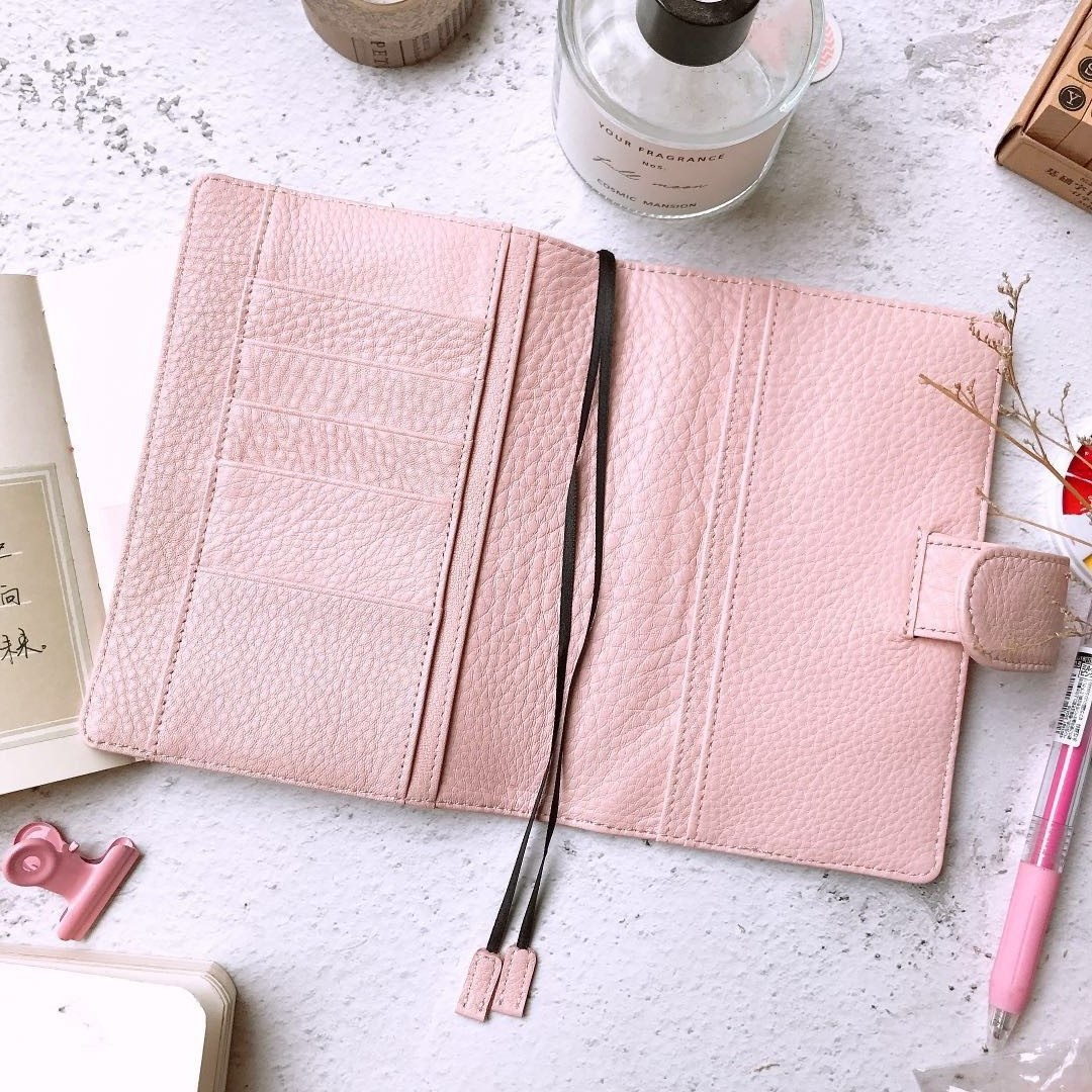 Classic Genuine Leather Softcover Journal Cover For Hobonichi Paper Book A6 Free Shipping