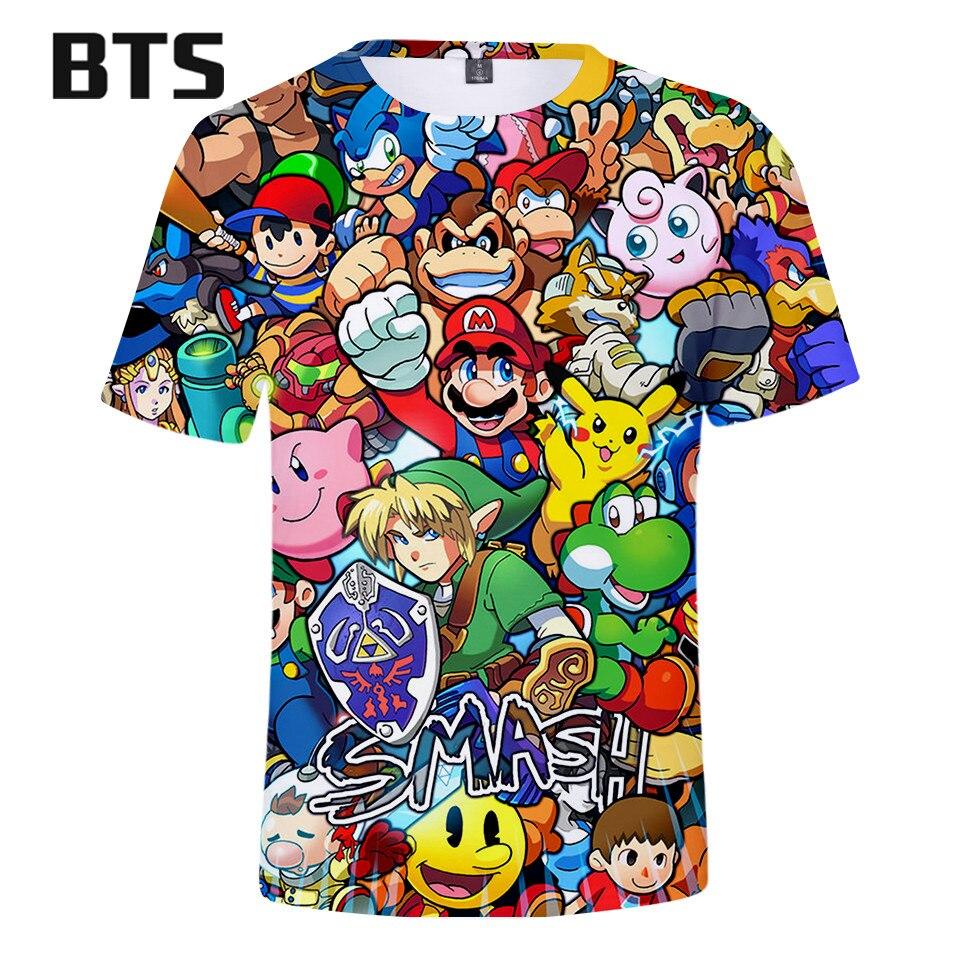 2018 Kawaii 3D Mario Harajuku T-shirts Men/Women Clothes Short Sleeve TShirt  Classic Design Tops Tees Plus Size Q0808-Q0817 худи xxxtentacion