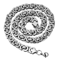 Mens Stainless Steel Byzantine Chains Necklaces Jewellery Hip Hop Rock Gift 2015 Accessories Wholesale