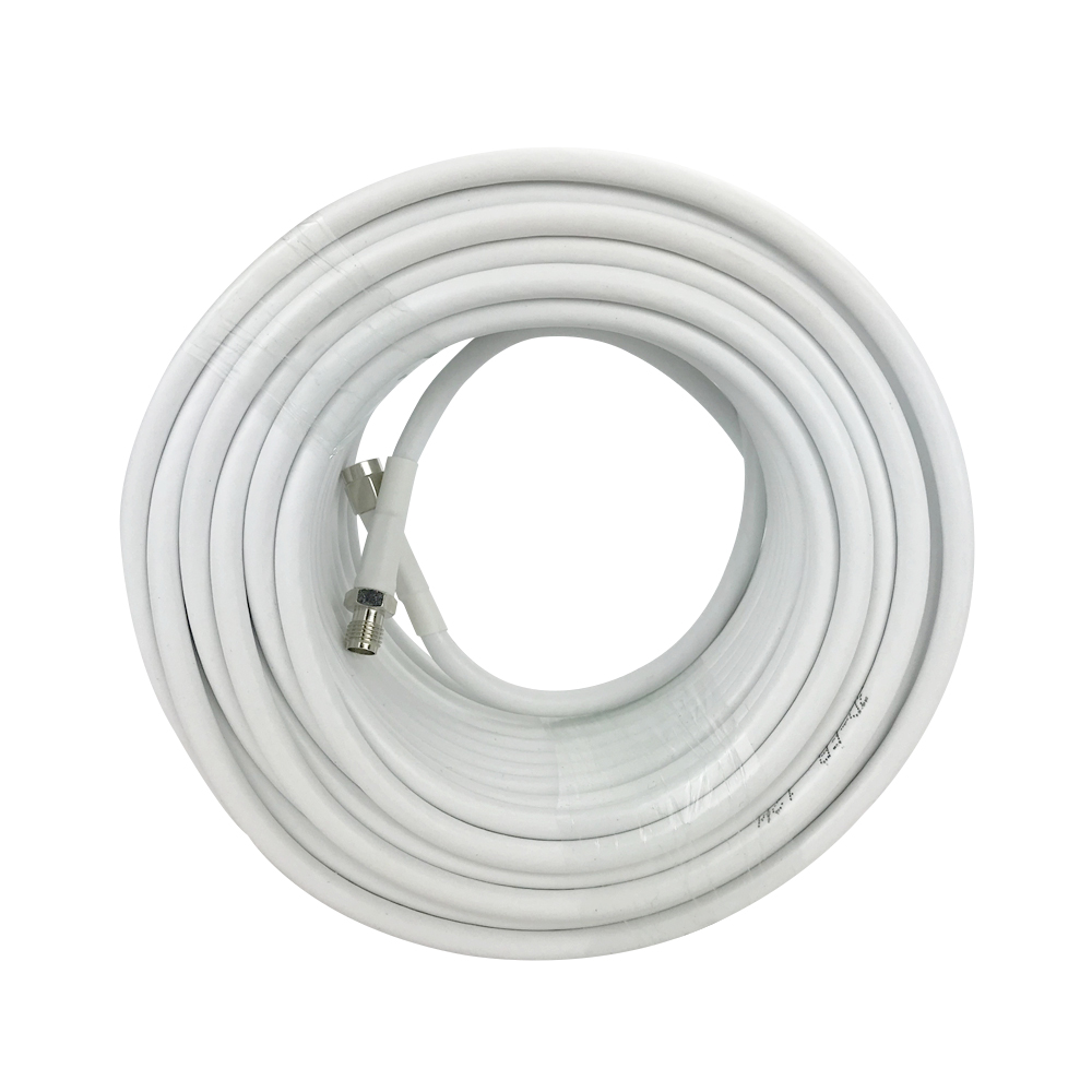 20 Meters SMA Male To SMA Female 3D Coaxial Cable For Mobile Phone Signal Booster 75ohm White Cable