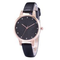 Fashion Women Watches Leisure Ladies Diamond Leather Quartz Wrist Watch Bangle Bracelet Dress Erkek Kol Saati
