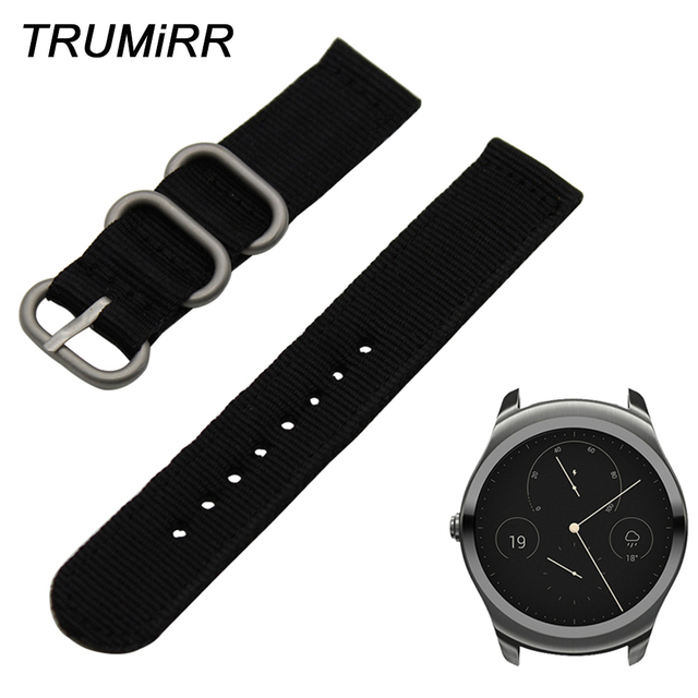 0889058a195215 20mm 22mm nylonowy pasek do zegarków pasek Zulu + narzędzie do Ticwatch 1  46mm/Ticwatch