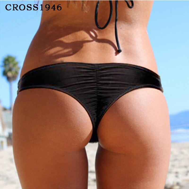 2018 New Hot Bikini Bottoms Semi V Thong Swimwear Summer Sexy Swimsuit Women Bathing Suit Beachwear 8 Color Avalable S/M/L/XL