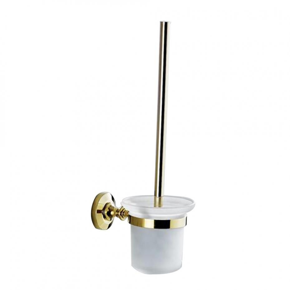 Simple Solid Brass   Antique Gold Polished Toilet Brush Rack Wall Mounted Toilet Brush Holder Bathroom HardwareSimple Solid Brass   Antique Gold Polished Toilet Brush Rack Wall Mounted Toilet Brush Holder Bathroom Hardware