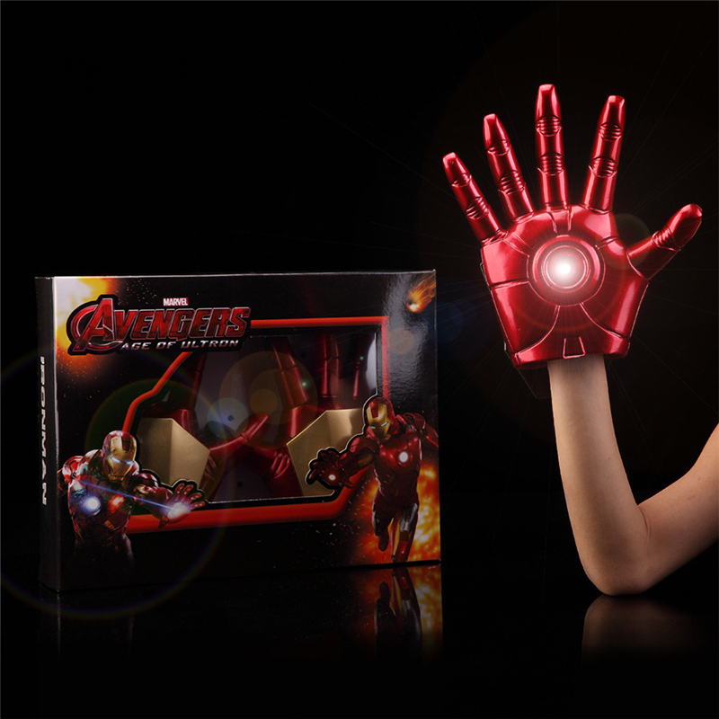 The Avengers Iron Man Action Figure Collection Toys LED Flash Gloves Light Dolls PVC Juv ...