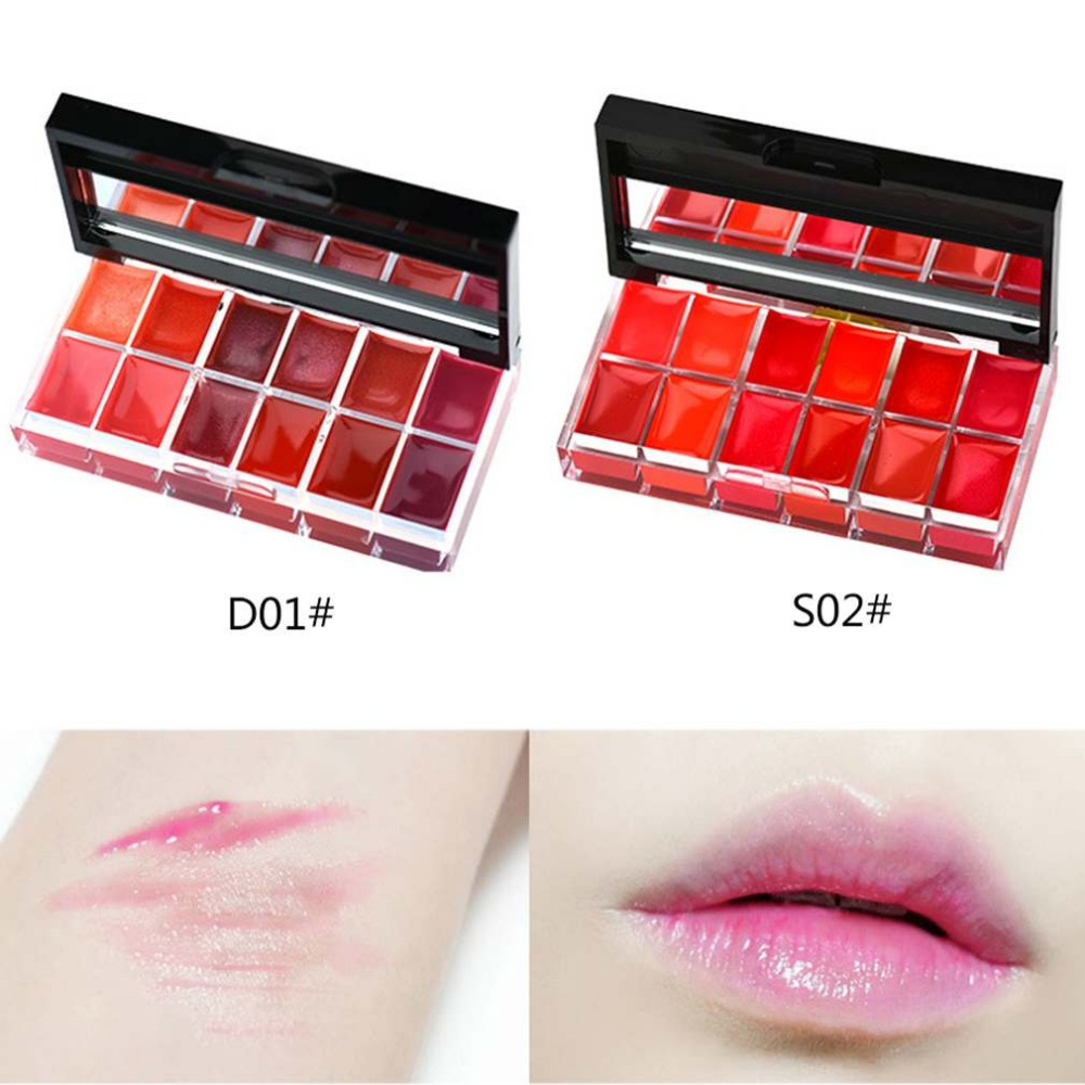 cb848e668495 BY NANDA 12 Colors Lips Makeup Brand Girl Woman Professional Make Up ...