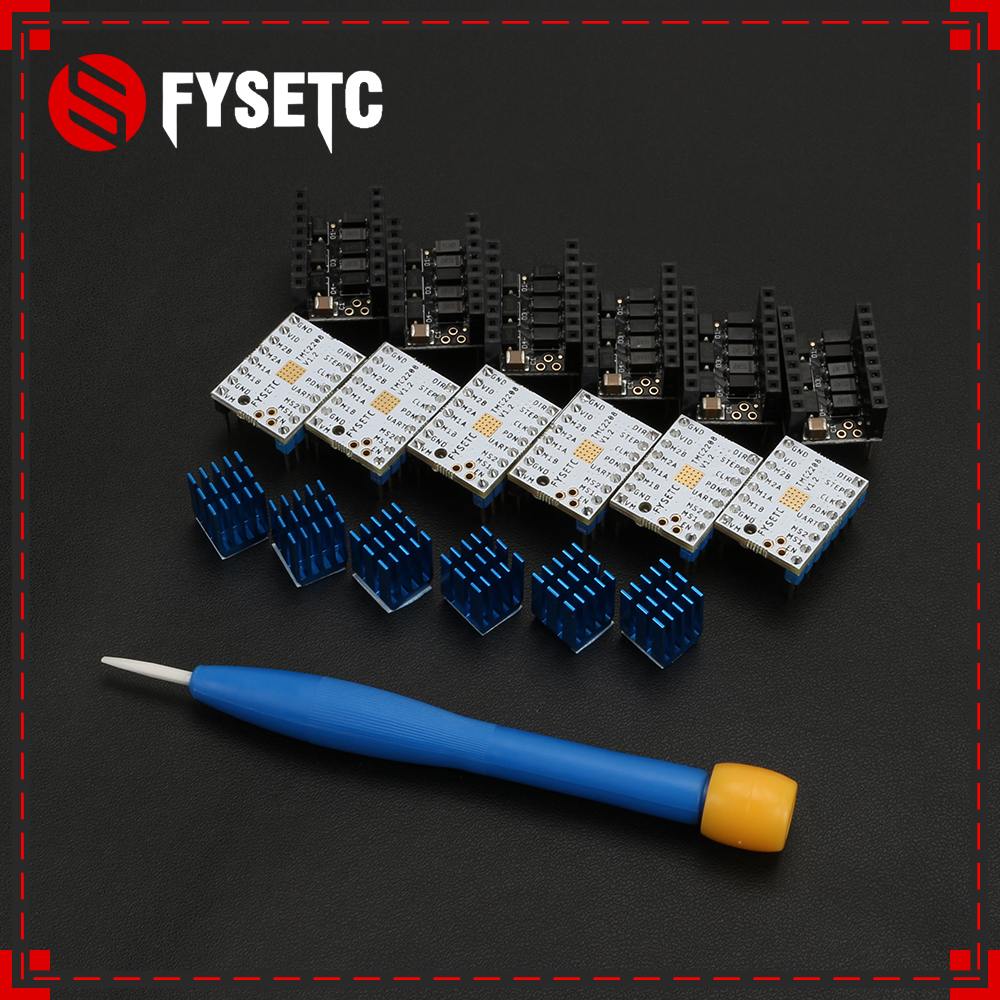 5pcs Latest FYSETC TMC2208 V1 2 Protector Stepstick Freely Using UART Stepping Motor Mute Driver Flying