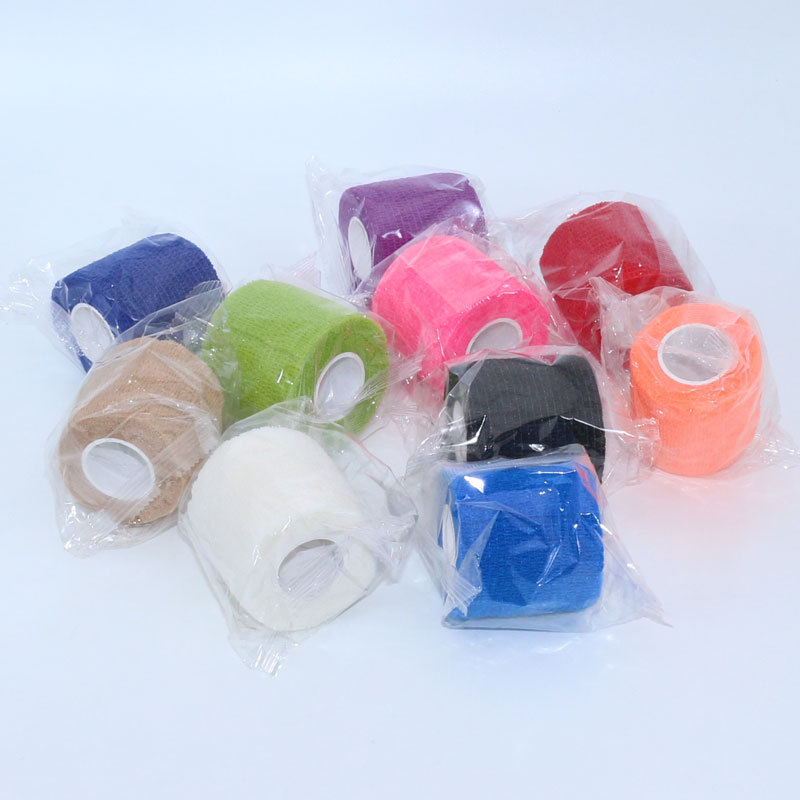 Grip Wrap Disposable Nonwoven Self Adhesive Elastic Bandage Finger Wrist Protection Medical Tape Tattoo Accesories Random Color