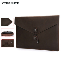 Leather Laptop Bag 13 Inch For Macbook Air Pro Retina 11 13 15 Inch Quality Retro Sleeve Pouch for Mac book Pro 13 Touch Bar