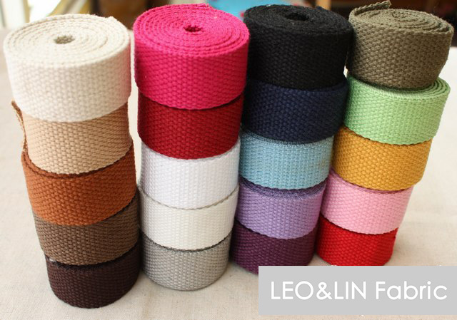 2017 DIY Cloth Cotton+Polyester Thickening Ribbon Bags Webbing Solid Color Botticing 2.0 2.5 3.2 3.8cm (10 meters/lot) 50%OFF - LEO&LIN Fashion Fabric Shopping Center store