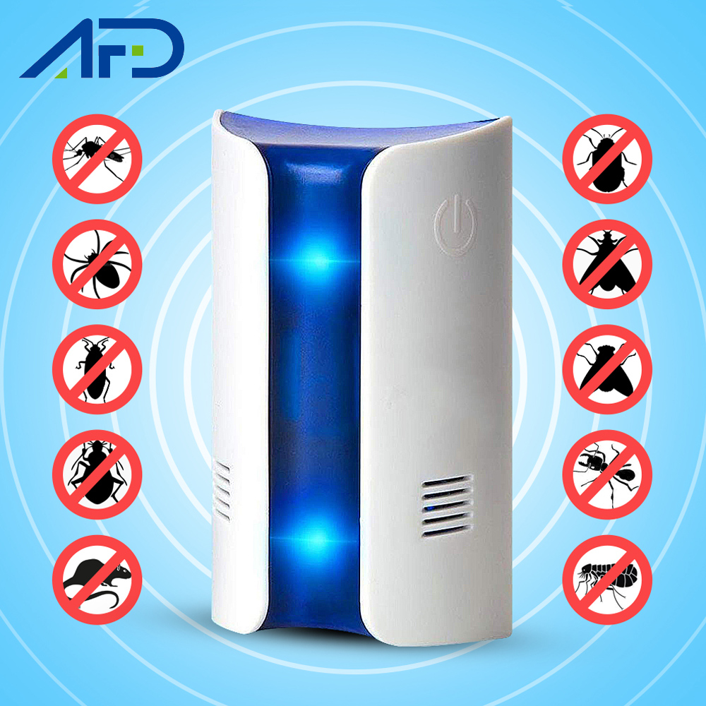1pc Newest Ultrasonic Pest Repeller Electronic Pest Reject Plug In Device Rat Mouse Mice Mouse Anti Mosquito Repeller US/EU Plug