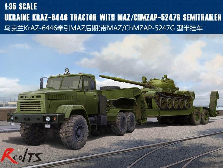 RealTS Hobbyboss 1/35 85513 Ukraine KraZ-6446 Tractor w/ChMZAP-5247G kraz
