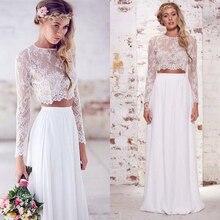 Boho Wedding Skirts High Waist Chiffon Floor Length Aline Bridal Skirts